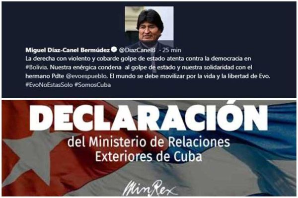Cuba calls to safeguard the life of Evo Morales after coup