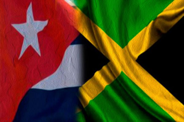 cuba and jamaica flags together