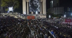 mass tribute to fidel castro in havana's university on 3rd anniversary of his passing