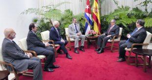 Raul Castro received His Majesty Felipe VI.