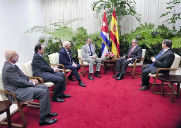 Raul Castro received His Majesty Felipe VI.