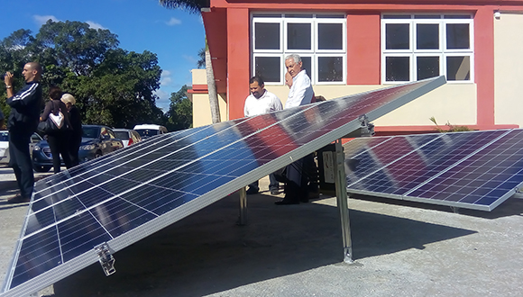 training phovoltaic park opens in havana's cujae university