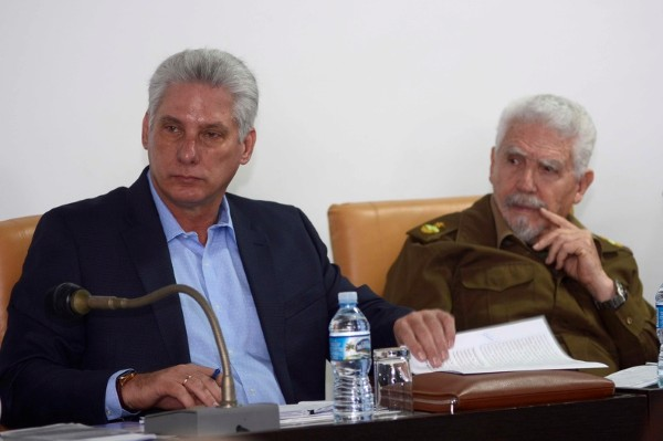 diaz-canel in parliament working session