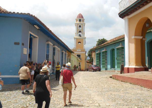 foreign tourists in trinidad, sancti spiritus