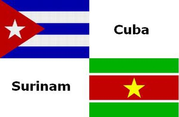 suriname and cuba flags