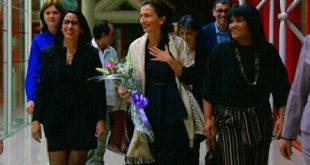 Audrey Azoulay upon arrival at Havana's Jose Marti International Airpor
