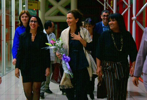 Audrey Azoulay upon arrival at Havana's Jose Marti International Airpor