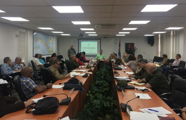 cuban health authorities meeting on coronavoirus surveillance system