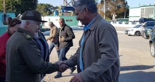 diaz-canel-arrives in jatibonico, sancti spiritus