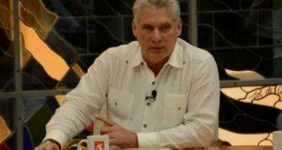 Miguel Díaz-Canel in Round Table TV program