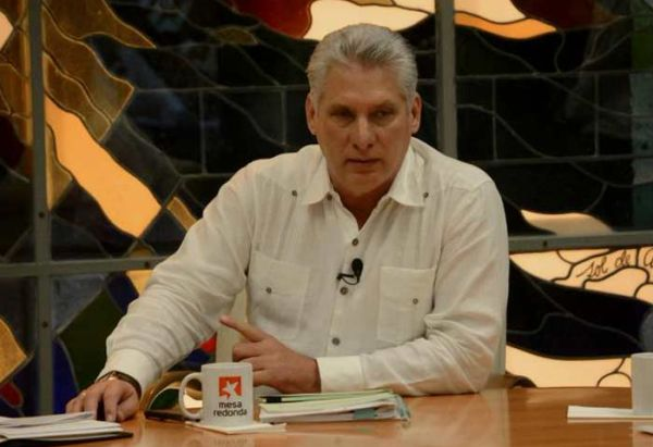 Miguel Díaz-Canel in Round Table TV program