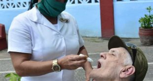 Cuban produced Prevengho-Vir homeopathic drops have already been administered to elderly people in nursing homes in Sancti Spiritus