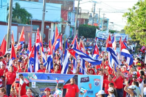 may day parade in sancti spiritus