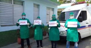 Cuban health workers celebrate May Day from the front line against COVID-19