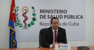 cuban health minister during world health assembly