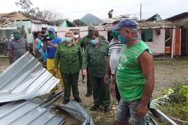 sancti spiritus authorities assess damages in guasimal location