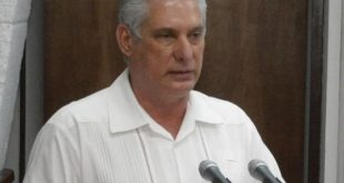 Cuba President Miguel Díaz-Canel during the speech delivered at the Council of Minsiters meeting