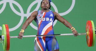 Cuban weightlifting athlete Marina Rodriguez