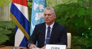 díaz-canel during UN 75 session