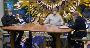 Cuba President Miguel Díaz-Cannel and Cuba Prime Minister Manuel Marrero when attending Cuban Round Table television program on Thursday