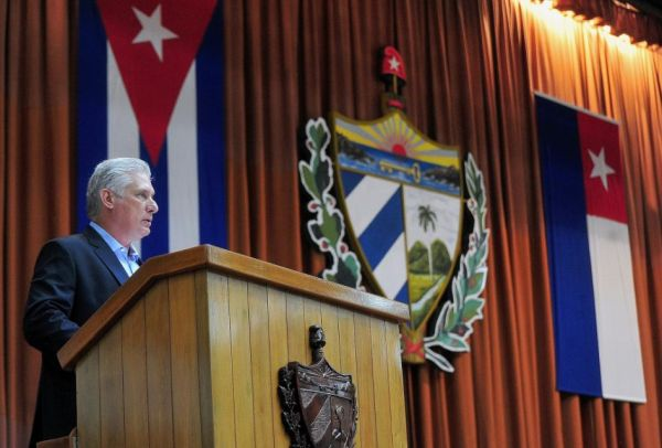 cuba president when delivering the closing speech at parliament fifth ordinary session