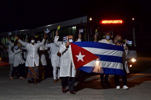 cuba health brigade returns from guinea bissau