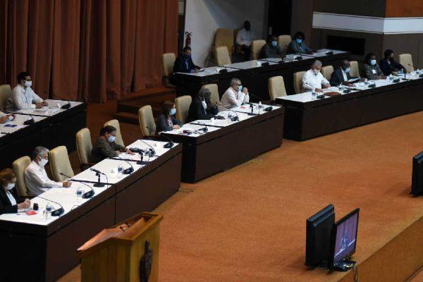 Cuba parliamentarians during a meeting