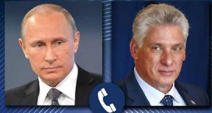 cuba president holds telephone call with russian counterpart