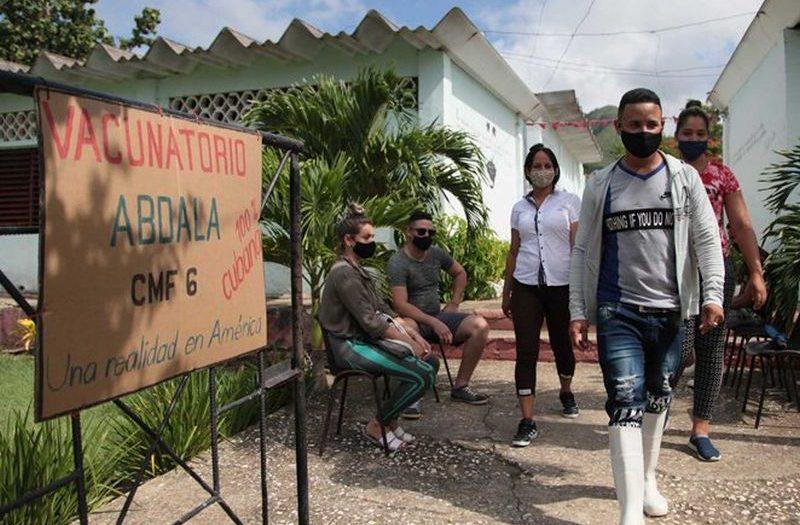 schools turned into vaccination sites in sancti spiritus, cuba