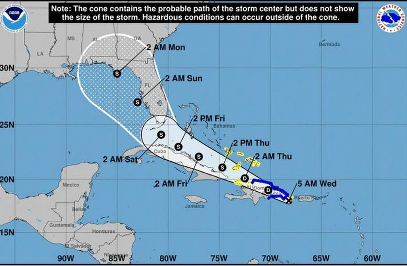 tropicl storm fred
