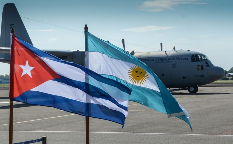 cuba grateful for donations receive from argentina