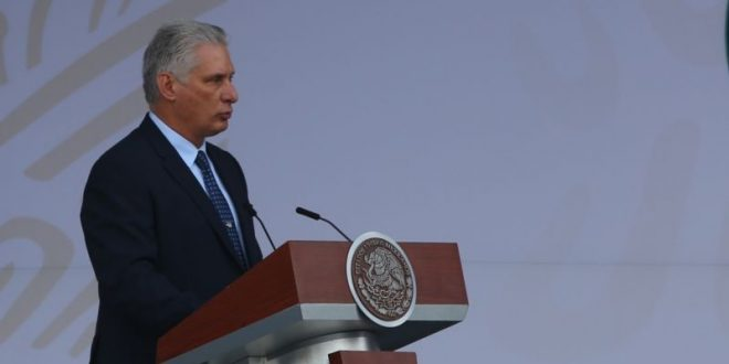 cuba president miguel diaz-canel in mexico