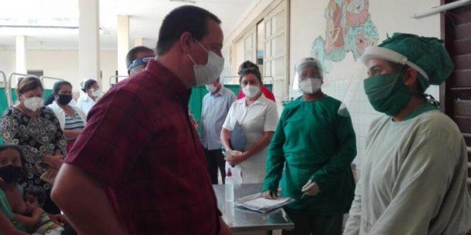 cuban minister of health visits trinidad, in sancti spiritus, central cuba