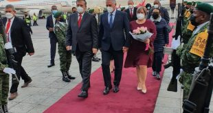diaz-canel upon arrival in mexico