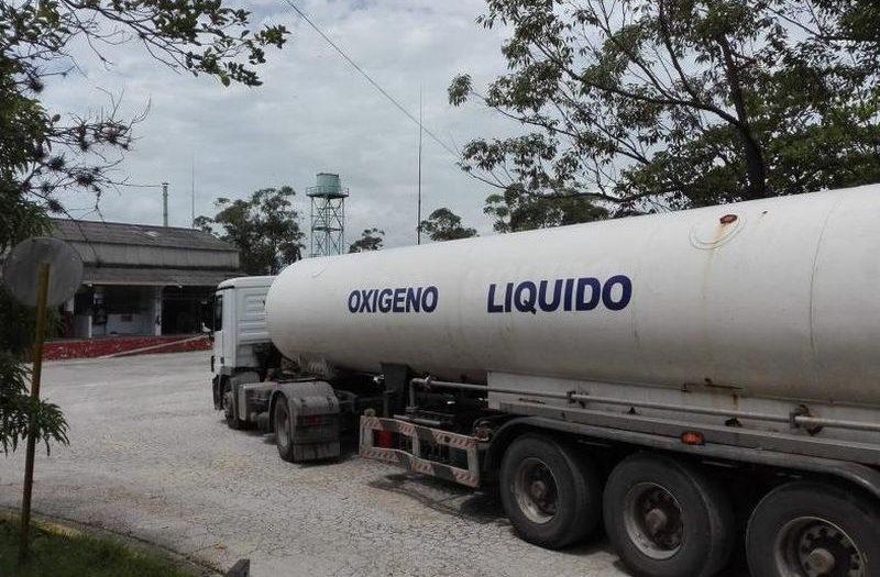 liquid oxygen tank truck